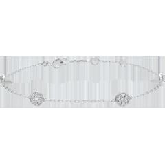Bracelet or blanc Myriade d'étoiles