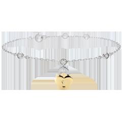 Bracelet Précieux Secret - Coeur - or jaune