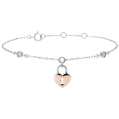 Bracelet Précieux Secret - Coeur - or rose