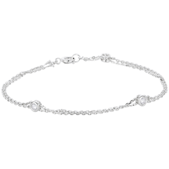 Bracelet Zodiaque or blanc et diamants