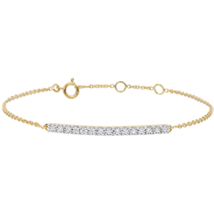 Bransoletka Blask z żółtego złota 9-karatowego - 15 diamentów