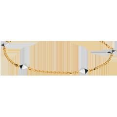 Bransoletka Geneza - Diamenty nieoszlifowane dwa kolory - złoto białe 9-karatowe