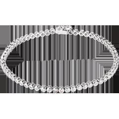Bransoletka Liczydło z diamentami - złoto białe 18-karatowe - 1,15 karata - 60 diamentów