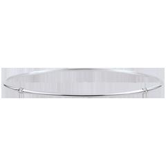 Brăţară fixă Junglă Sacră - diamante - aur alb de 9K