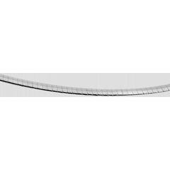 Cadena Omega - oro blanco 18 quilates - 42 cm