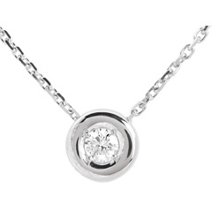Chalice necklace white gold
