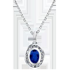 Ciondolo Abbondanza - Clelia - oro bianco 18 carati e diamanti