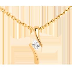 Ciondolo Apostrofo diamante - Oro giallo - 18 carati - Diamante
