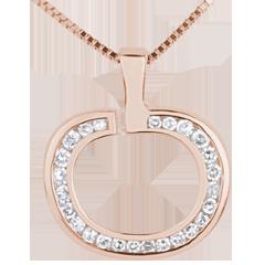 Ciondolo Diapple - Oro rosa - 18 carati - 25 Diamanti - 0.15 carati
