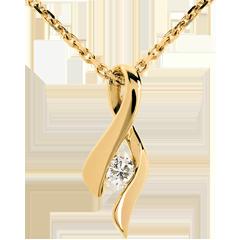 Ciondolo Infinito - Oro giallo - 18 carati - Diamante - 0.13 carati