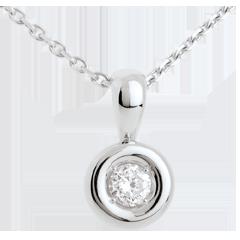 Ciondolo Punto luce - Calice - Oro bianco - 18 carati - Diamante - 0.28 carati