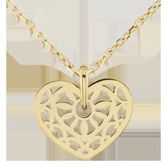 Ciondolo sortilegio d'amore - Oro giallo - 9 carati