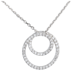 Collana Al tuo fianco - Oro bianco - 18 carati - 50 Diamanti - 0.2 carati