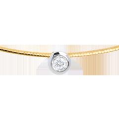 Collana Cordicella oro giallo punto luce diamante
