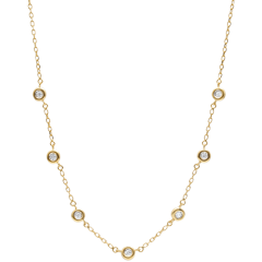 Collana diamanti Caliste - Oro bianco - 9 carati - 7 Diamanti