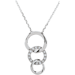 Collana Gala - Oro bianco - 9 carati - 13 Diamanti