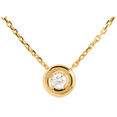 Collana Punto luce - Calice - Oro giallo - 18 carati - Diamante