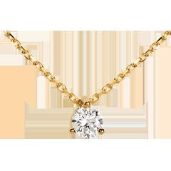 Collana Punto luce - Oro giallo -18 carati - Diamante - 0.205 carati