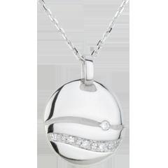 Collana Tramonto - Oro bianco - 18 carati - 5 Diamanti