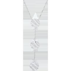 Collana Tre Pianeti - Oro bianco - 9 carati