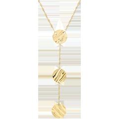 Collana tre pianeti - Oro giallo - 9 carati
