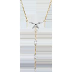 Collar Brisa Ligera - bicolor - oro blanco y oro amarillo 18 quilates