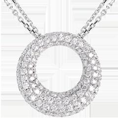 Collar Cassiopée - oro blanco 18 quilates
