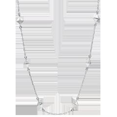 Collar Génesis - Diamantes Brutos - oro blanco 9 quilates