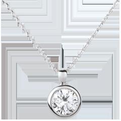 Collar muñeca Solitario oro blanco - 1 diamante: 1.5 quilates