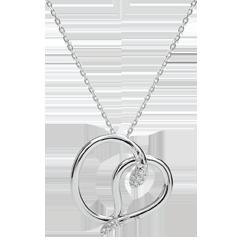 Collar Paseo Soñado - Serpiente del Amor - oro blanco 18 quilates y diamante