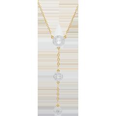 Collar Tala - oro blanco y oro amarillo 9 quilates