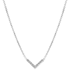 Coller Abondance - Eve - or blanc 9 carats et diamants