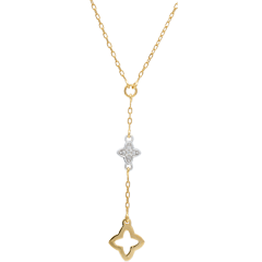Collier Augusta - Bicolor und Diamanten