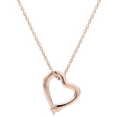 Collier Balade Imaginaire - Serpent d'amour - variation petit modèle - or rose 9 carats diamant