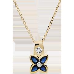 Collier Belle étoile - saphirs - or jaune 9 carats