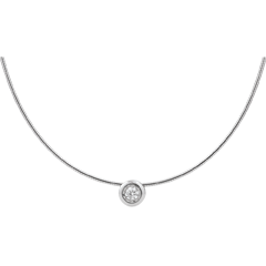 Collier cable or blanc puce diamant (TGM)
