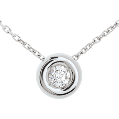Collier Calice diamant (TGM) - or blanc 18 carats