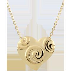 Collier Coeur Spirales