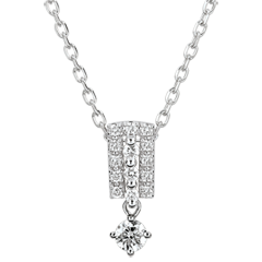 Collier Destinée - Médicis - diamants et or blanc 9 carats