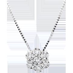 Collier Fraicheur - Fleur de Flocon - 7 diamants et or blanc