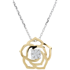Collier Fraicheur - Rose Absolue - or jaune - 9 carats