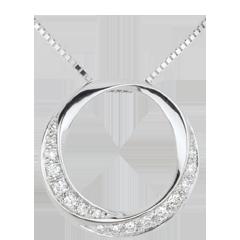 Collier Lady or blanc et diamants