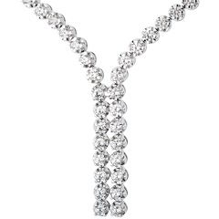 Collier Liaison diamants - 2.4 carats - 76 diamants - or blanc 9 carats