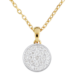 Collier Ma Constellation bicolore - 0.163 carat - or blanc et or jaune 18 carats
