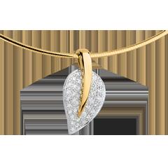 Collier pendentif Feuille de vie