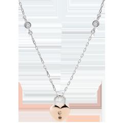 Collier Précieux Secret - Coeur - or rose