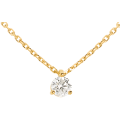Collier solitaire or jaune 18 carats (TGM) - 0.305 carat