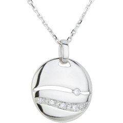 Collier Sunset Or blanc diamants - or blanc 18 carats