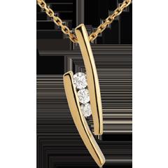 Collier Trilogie Nid Précieux - Parenthèses - or jaune 18 carats
