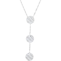 Collier Trois Soleils - or blanc 9 carats